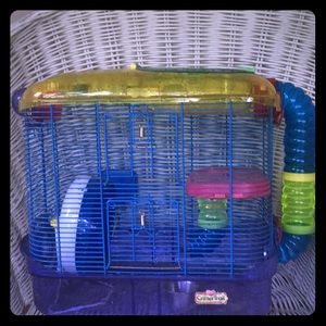 Used, Two story hamster cage with all things included. for sale